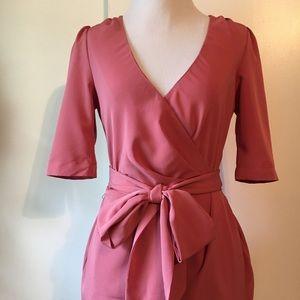 ASOS mini  wrap  dress size:4 orange